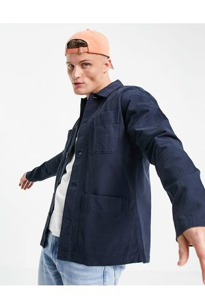 SELECTED Men Casual - Overshirt with four pockets in washed