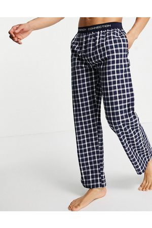 French Connection Woven trousers in marine and white