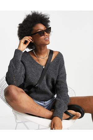 Abercrombie & Fitch Women Jumpers - Slouchy v neck jumper in dark