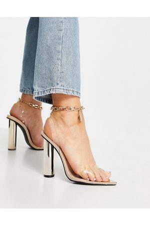 Public Desire Women Sandals - Expression block heeled sandals with padlock detail in