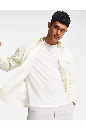 New Look Men Casual - Oversized shirt in off