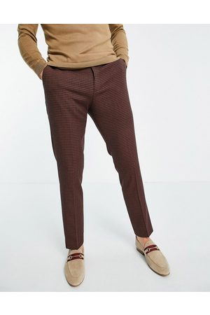 River Island Suit trousers in grid check