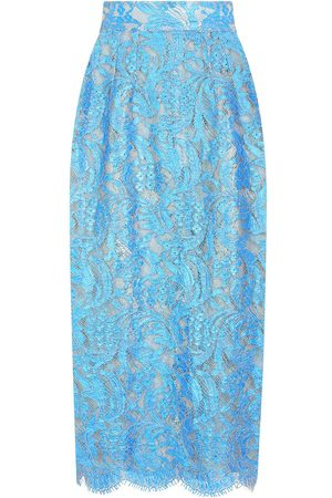 Dolce & Gabbana Women Pencil Skirts - High-waisted lace pencil skirt
