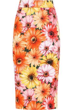 Dolce & Gabbana Women Printed Skirts - Sunflower print pencil skirt