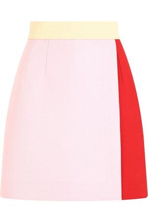 Dolce & Gabbana Colour-block high-waisted skirt