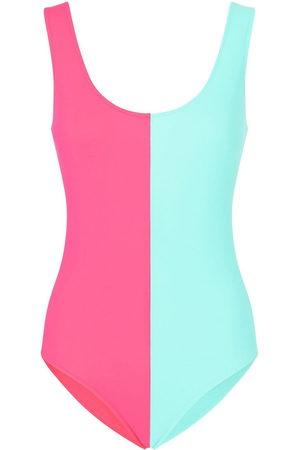 Dolce & Gabbana Women Swimsuits - Two-tone open-back swimsuit