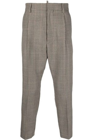 Dsquared2 Men Formal Trousers - Houndstooth cropped tailored trousers