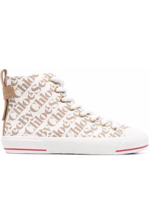 See by Chloé Aryana logo-print sneakers