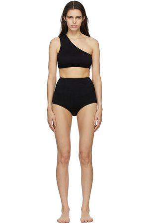 Women Bikinis - Bottega Veneta Crinkle One Shoulder Bikini