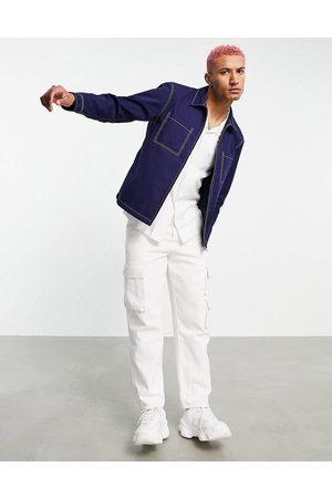 Edwin Denim zip through overshirt