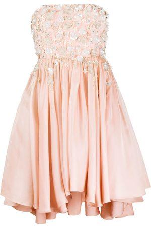 Parlor Women Strapless Dresses - Embellished strapless dress