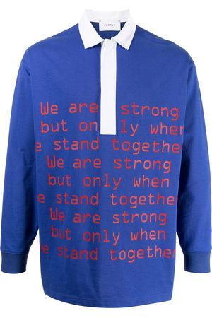 Ports V Slogan-print polo shirt