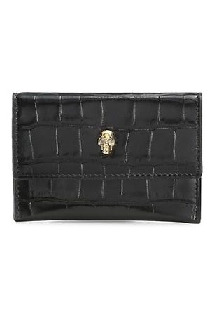 McQ Wallets - Crocodile-Embossed Leather Envelope Card Case