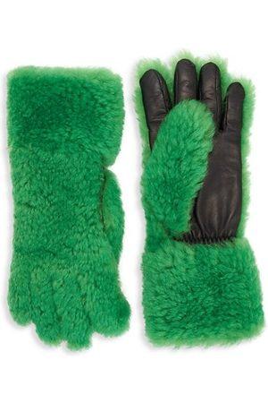 Bottega Veneta Lamb Fur & Leather Gloves