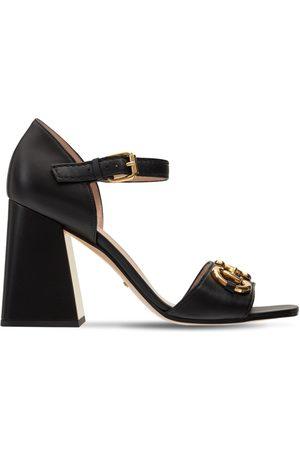 Gucci Women Platform Sandals - 95mm Baby Leather Sandals W/ Horsebit