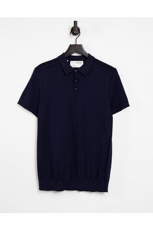 SELECTED Men Polo Shirts - Knitted polo in