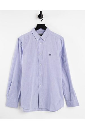 French Connection Long sleeve oxford shirt in sky