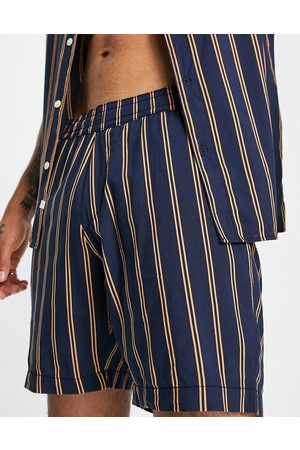SELECTED Co-ord short in vertical stripe