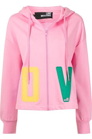 Love Moschino Logo-print pullover hoodie