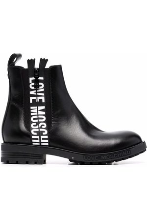 Love Moschino Logo-tape Chelsea boots