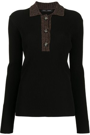 Proenza Schouler Ribbed knitted polo top