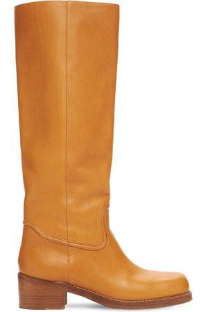 GABRIELA HEARST Women High Leg Boots - 50mm Marion Leather Tall Boots