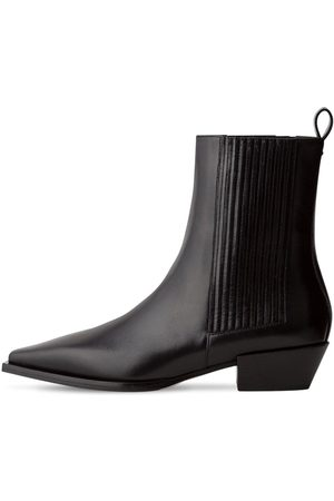 AEYDE 40mm Belinda Leather Ankle Boots