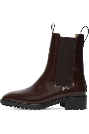 Aeyde 50mm Simone Brushed Leather Ankle Boots