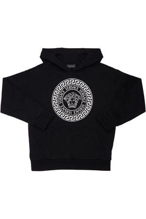 VERSACE Printed Cotton Sweatshirt Hoodie