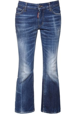 Dsquared2 Cotton Denim Cropped Jeans