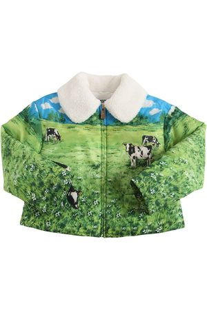 Moschino All Over Print Zip-up Nylon Jacket