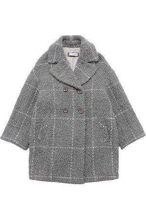 MONNALISA Girls Coats - Check Print Boucle Coat