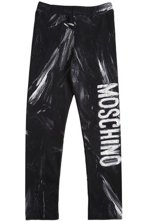 Moschino Printed Cotton Blend Leggings
