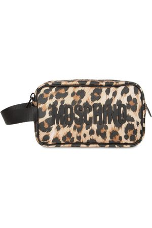 Moschino Men Toiletry Bags - All Over Leopard Toiletry Bag