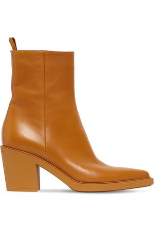 Gianvito Rossi 60mm Dylan Leather Ankle Boots