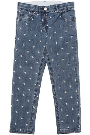Stella McCartney Girls Jeans - Embroidered Stars Stretch Jeans