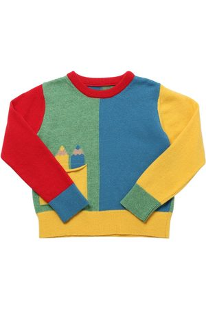 Stella McCartney Color Block Recycled Wool Knit Sweater