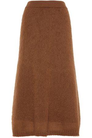 Max Mara Mohair Blend Knit Midi Skirt