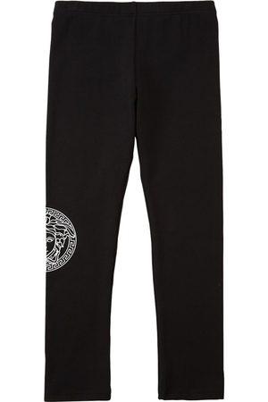 VERSACE Girls Leggings - Cotton Jersey Leggings