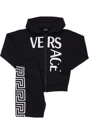 VERSACE Printed Jersey Sweatshirt & Sweatpants