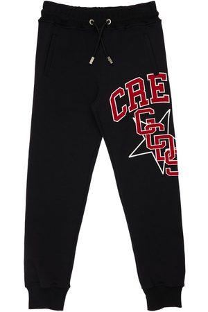 GCDS Flocked Logo Cotton Sweatpants