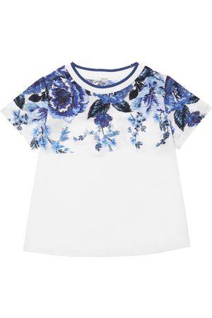 ZIMMERMANN Girls T-shirts - Flower Print Cotton Jersey T-shirt