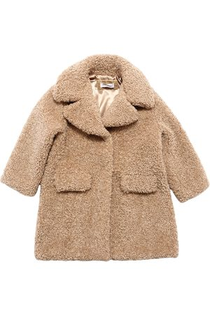 MONNALISA Girls Coats - Faux Shearling Coat