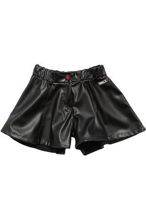 MONNALISA Girls Shorts - Faux Leather Shorts