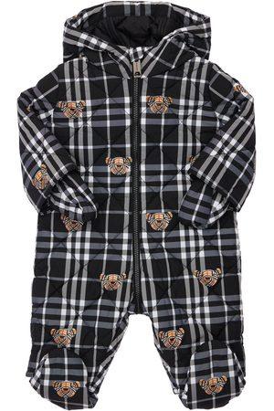 Burberry Boys Bodysuits & All-In-Ones - Hooded Check Print Nylon Puffer Romper
