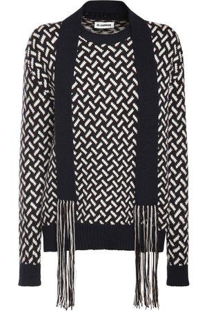 JIL SANDER Women Jumpers - Wool Knit Jacquard Sweater