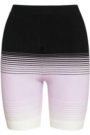 Missoni Women Shorts - Degradé Viscose Blend Knit Mini Shorts
