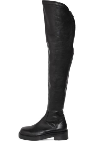 ANN DEMEULEMEESTER Women High Leg Boots - 25mm Nicky Leather Over-the-knee Boots