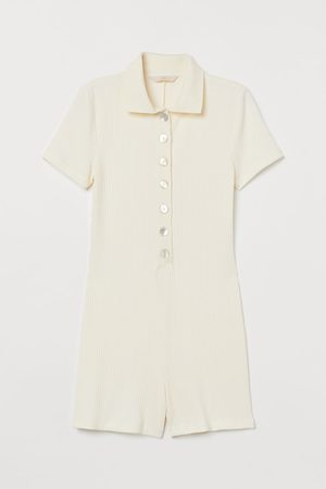 H&M Women Playsuits - Ribbed playsuit