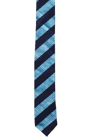 Blacksmith Men Blue Striped Skinny Tie